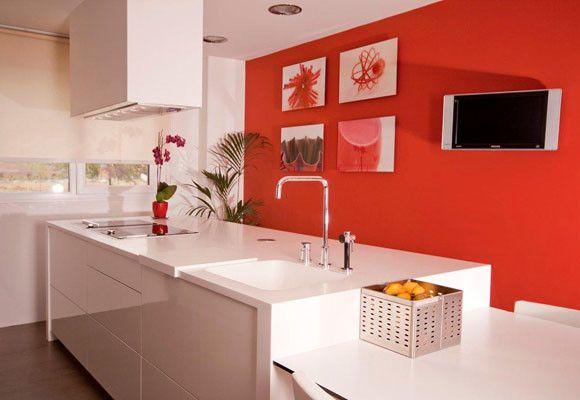Una cocina con toques rojos blogtotpint ideas y - Pintura de cocina ...